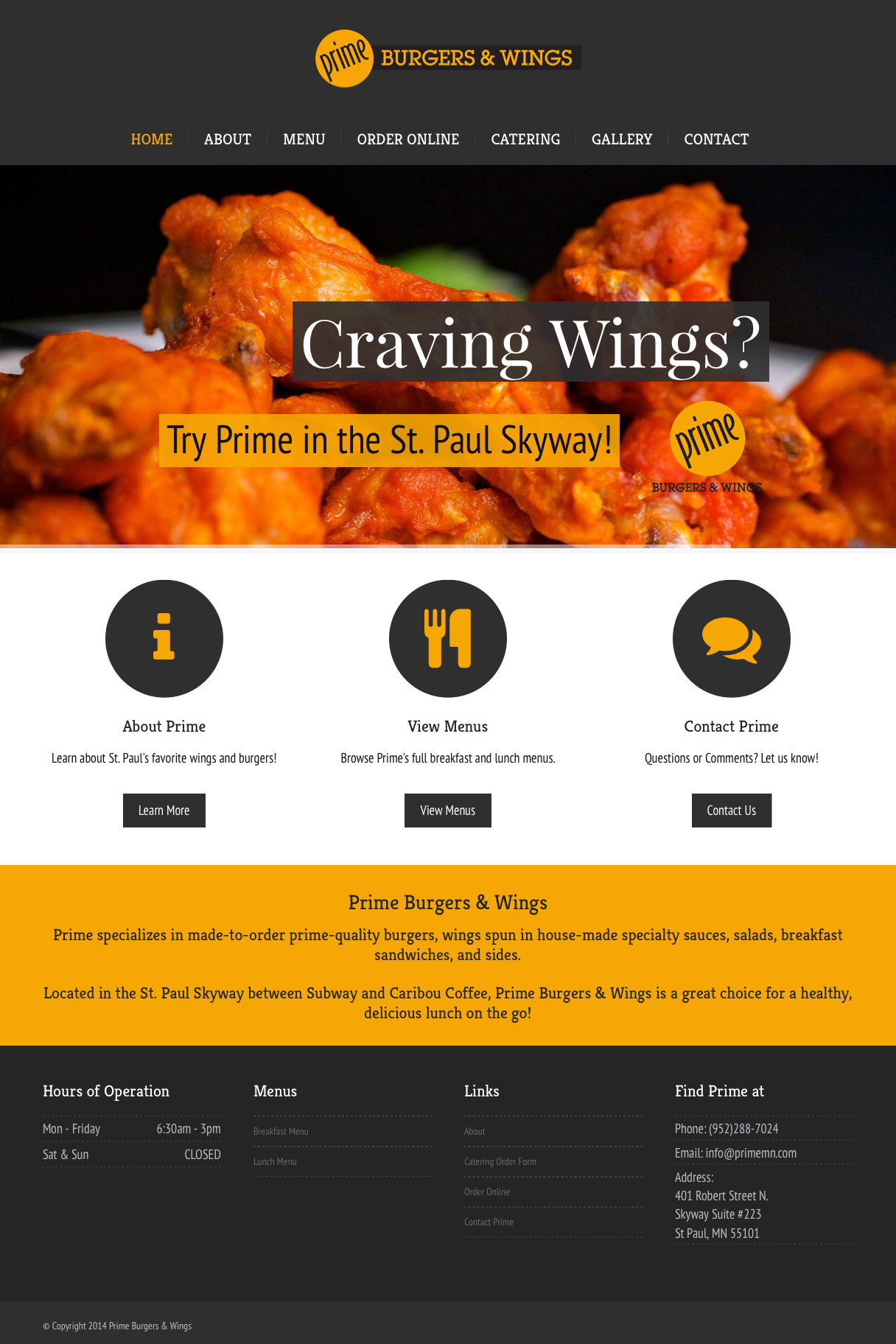 Prime Burgers & Wings Site